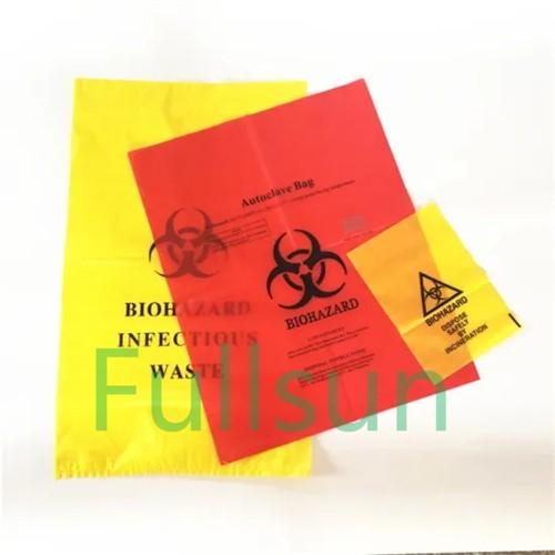 كيس القمامة الطبية biohazard المستشفى