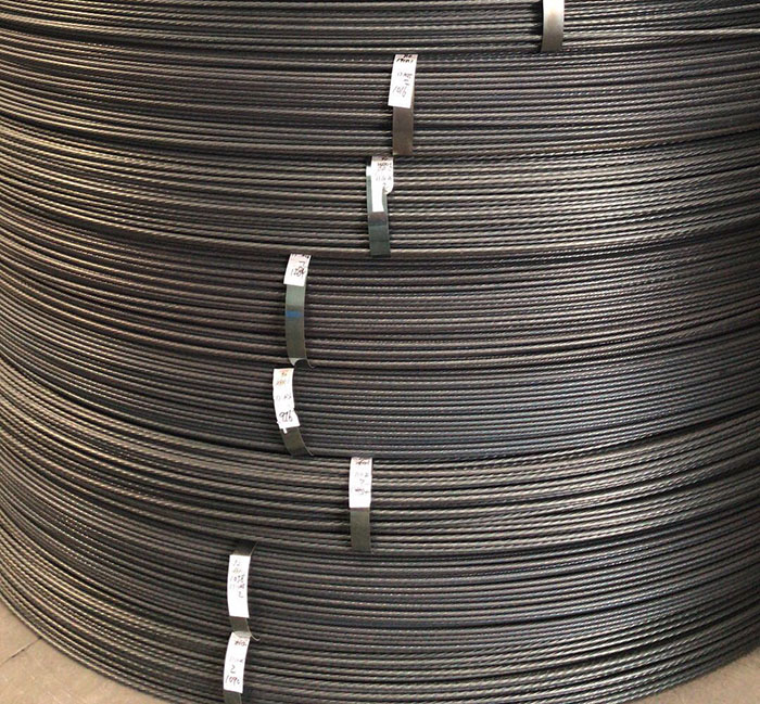 15.24mm PC steel strand 1x7 lines