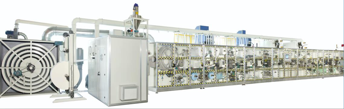 Full Servo Sanitary Napkin Making Machine