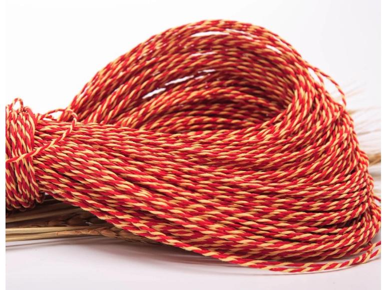 NOBRAND Tres Hilos de Cuerda de algod/ón DIY Hilo de Cuerda de algod/ón Tejido a Mano Amarillo 10Mm 10M