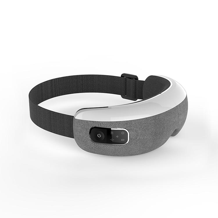 OMID brand OEM mini portable heat therapy sound sleep mask bluetooth eye massager EM200