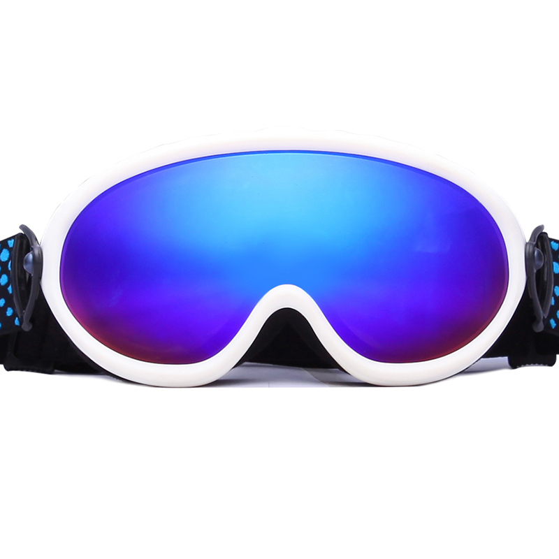 Shenzhen industrial price Customized Logo Strap soft TPU frame ski goggles SNOW-2000