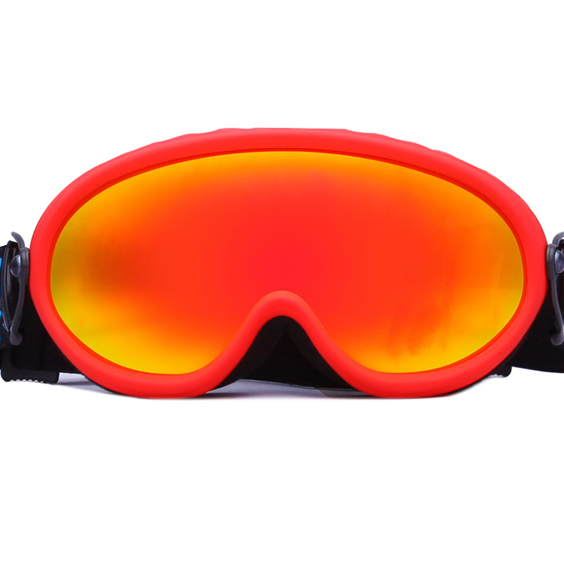 Shenzhen industrial price Customized Logo Strap soft TPU frame ski goggles SNOW-2000
