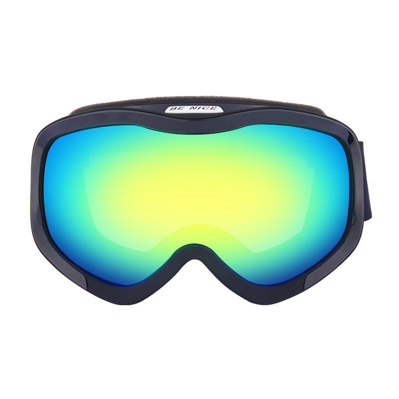 New Model Large rectangular frame anti-fog REVO Ski Goggles SNOW-4100