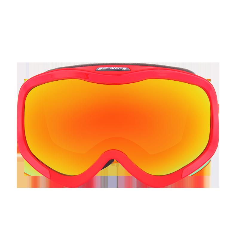 New Model Large rectangular frame anti-fog REVO Ski Goggles SNOW-4100
