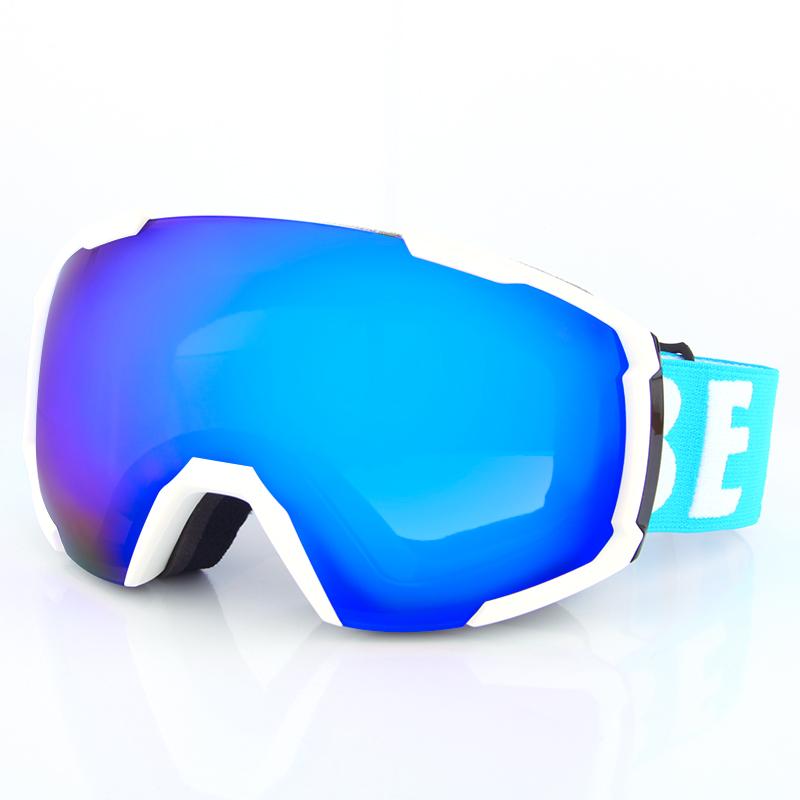 China factory custom skate helmet double lens glasses new design ski goggles SNOW-2100