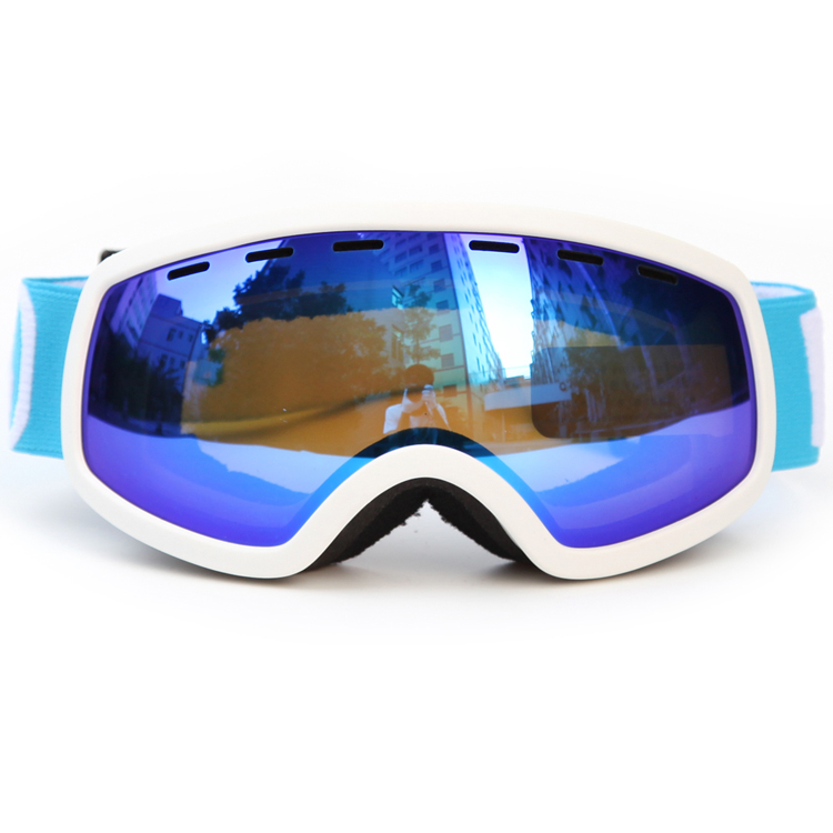 Junior bright color long lasting anti-fog ski goggles SNOW-4600
