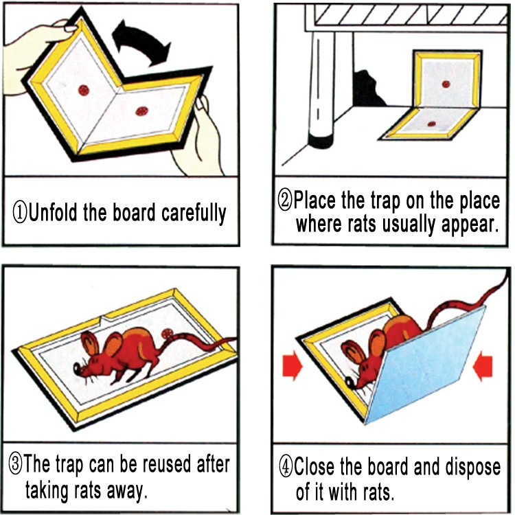 How to use a sticky mouse board ?