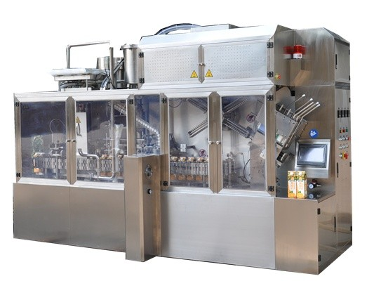 Gable Top Carton Filling Machine For Whipping Cream