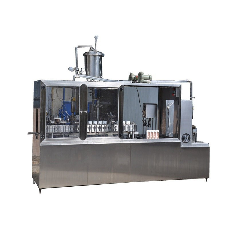 Semi Automatic Red Wine Carton Filling Capping Machine