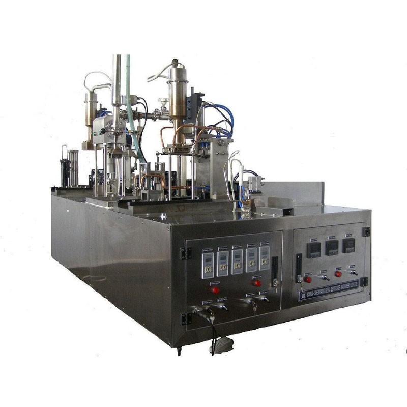 Small Manual Type Milk Juice Water Gable Top Carton Filling Machine