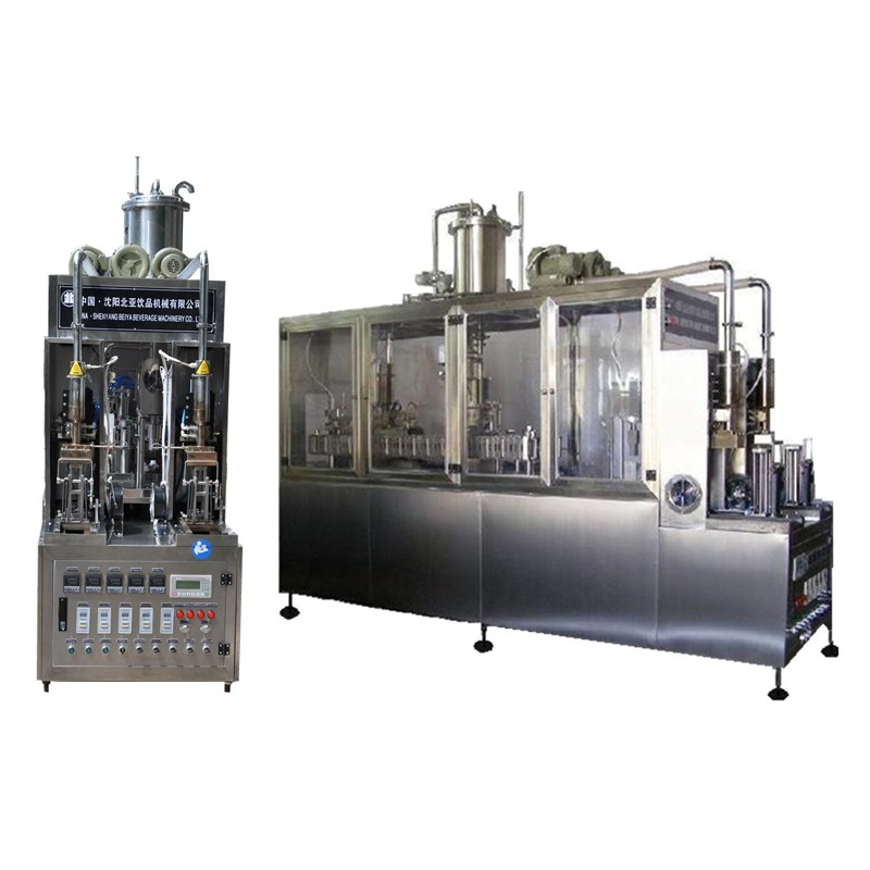 Soy Milk Semi-automatic Brick Carton Filling Machine