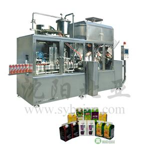 Milk Beverage Gable Top Carton Packing Machine