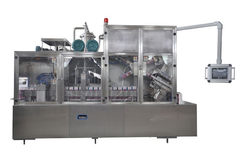 High speed fully automatic gable top carton filling machine