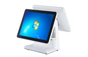 15 inch flat-panel dual screen pos machine with touch screen