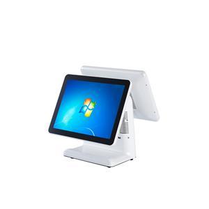 15 inch dual screen pos machine with aluminium alloy shell