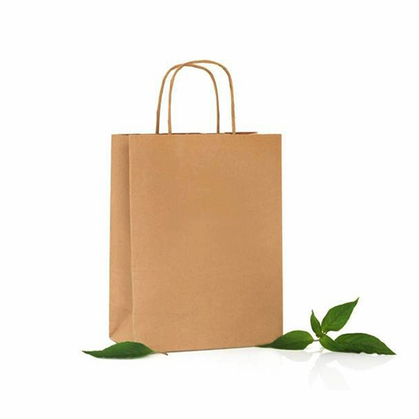 Cheap Sales Brown Craft Paper Shopping Bag wholesale Customized