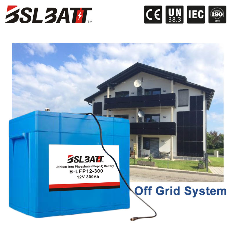 12V 300ah lifepo4 battery for off grid solar system