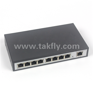 8 port POE optic switch with uplink port