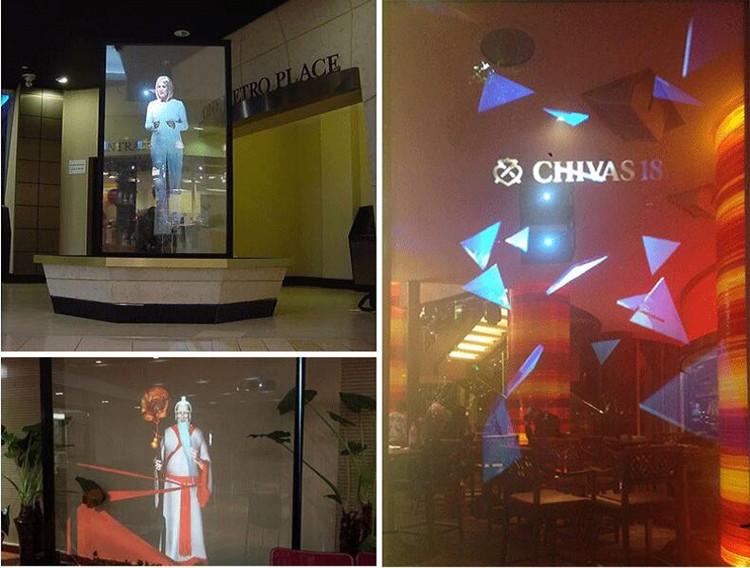 MODU 3D projection film used in office window of Vietnam
