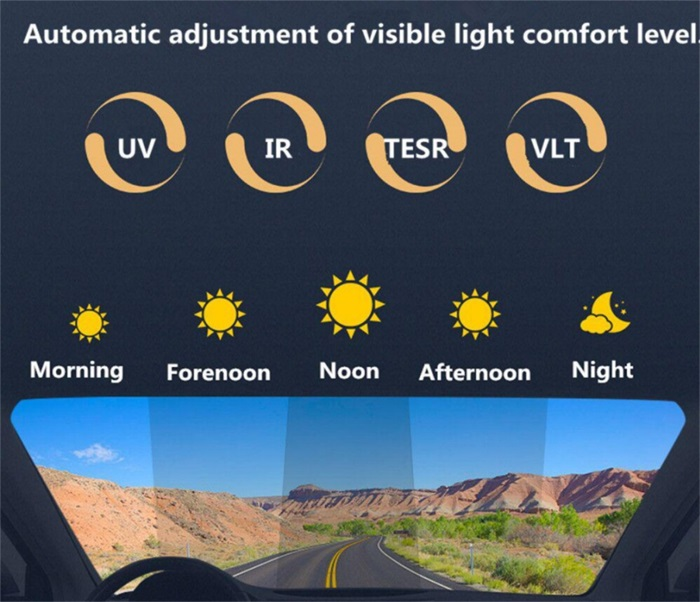 smart photochromic car window film