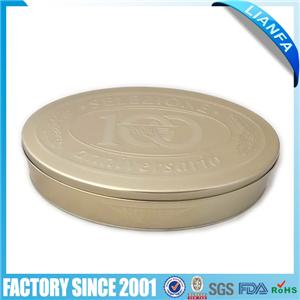 Oval tin box