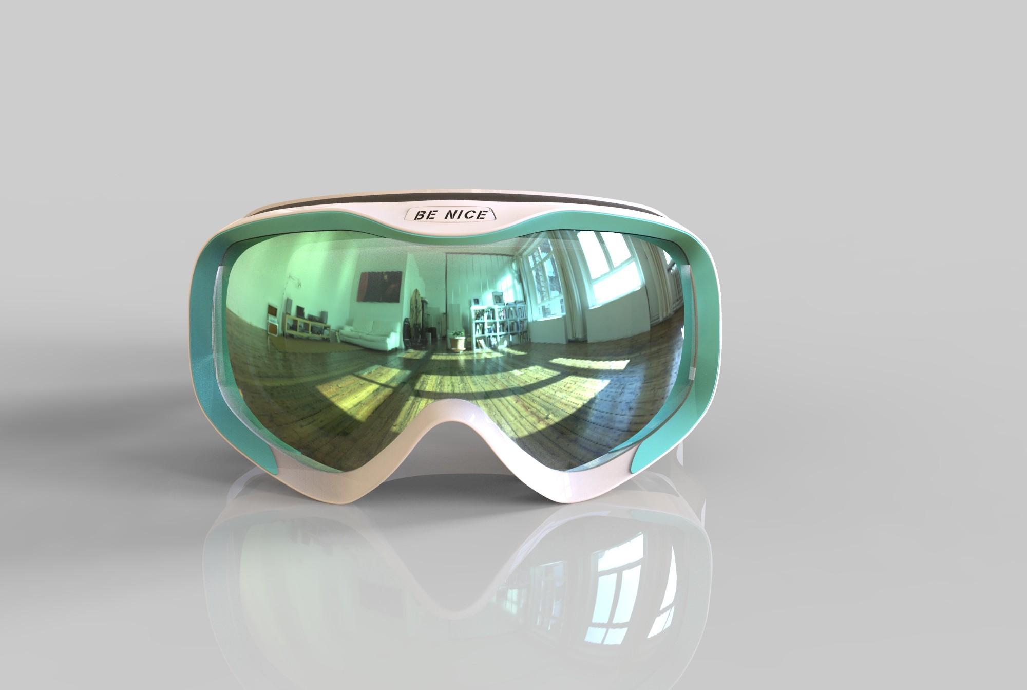 Decorative foam mental trademark wide vision breathable foam snow glasses SNOW-5600