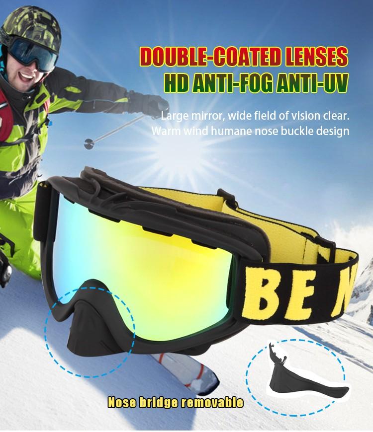 removable nose guard ski goggles