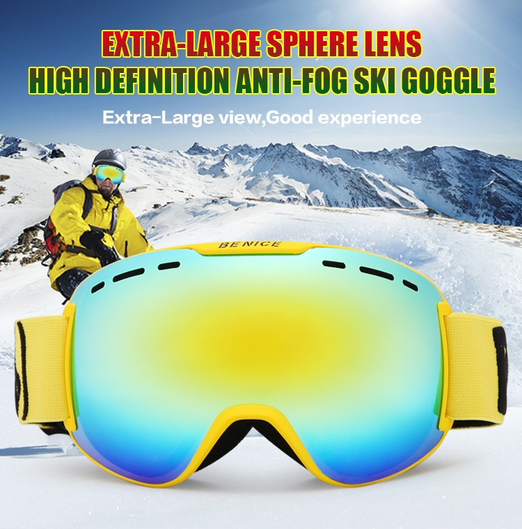 Fast replaceable aponge ski goggles
