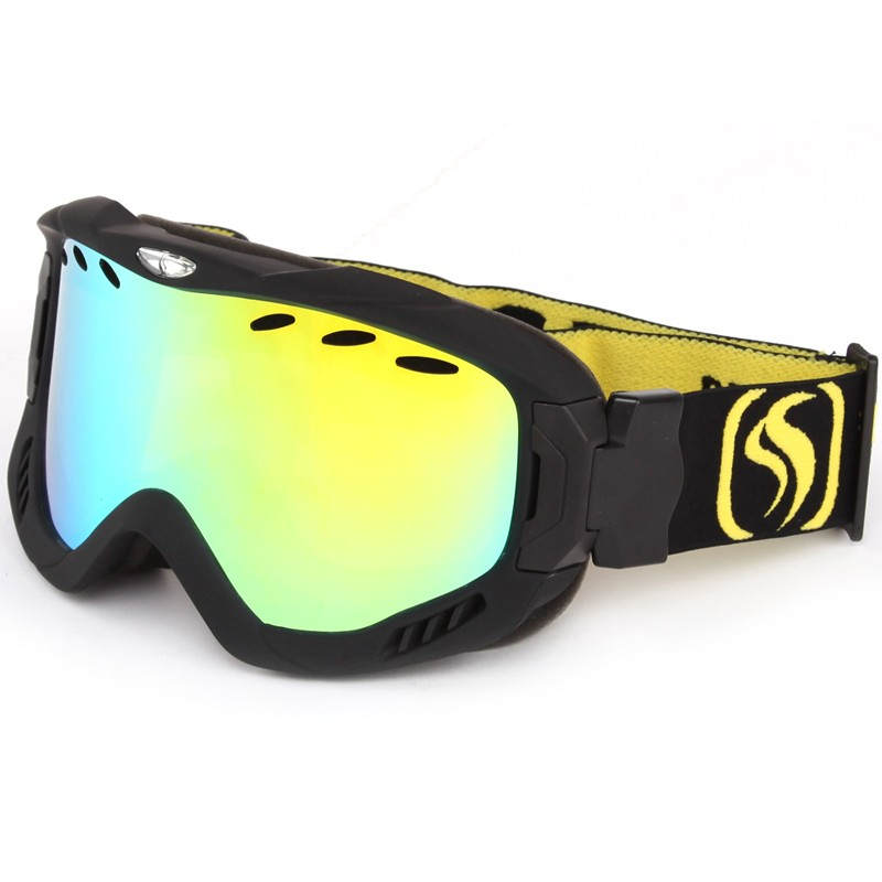 Top class memory sponge attached tightly lens ski goggles SNOW-2900