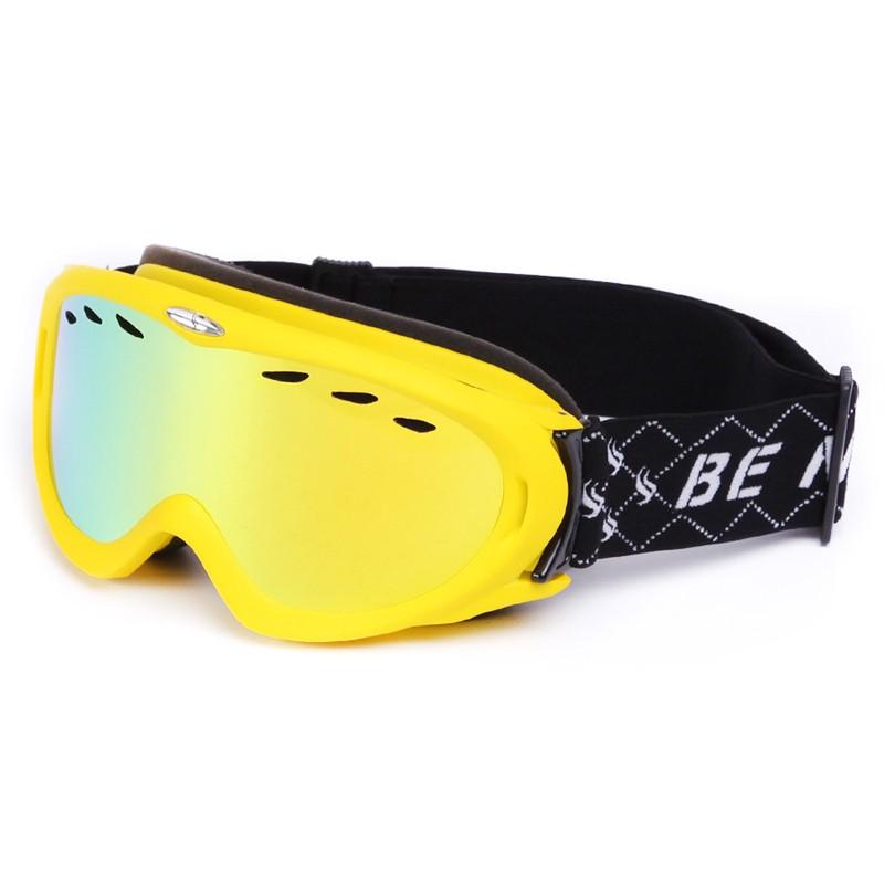 Air circulation channel polycarbonate anti-scratch lens ski goggles SNOW-2600