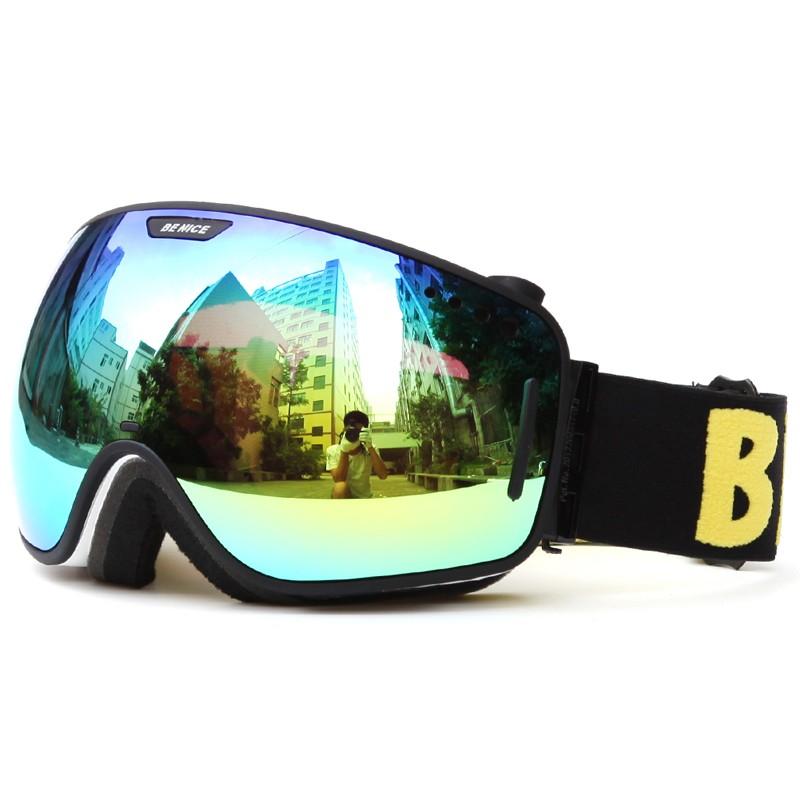 Advanced unique design adjustable nose piece ski glasses SNOW-3800