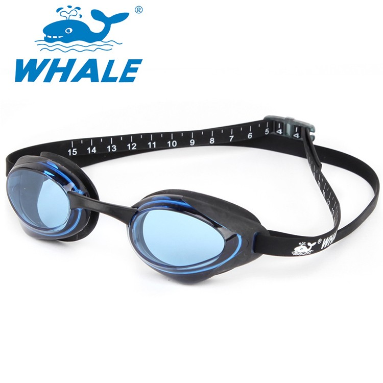 WHALE brand pc lens digit ruler racing swim goggles CF-8500