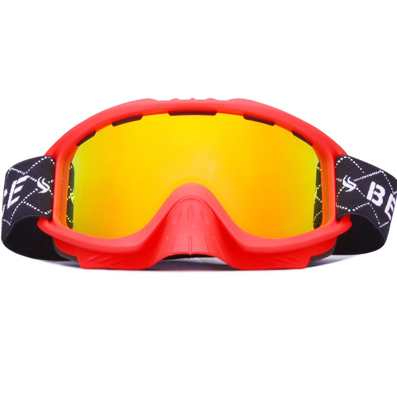 Full UV protetionremovable nose guard wide view ski glasses SNOW-3000