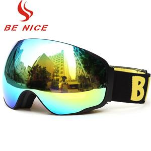 Hot Selling Large Spherical Lens Nylon Strap Ski eyeglass Goggles SNOW-4200