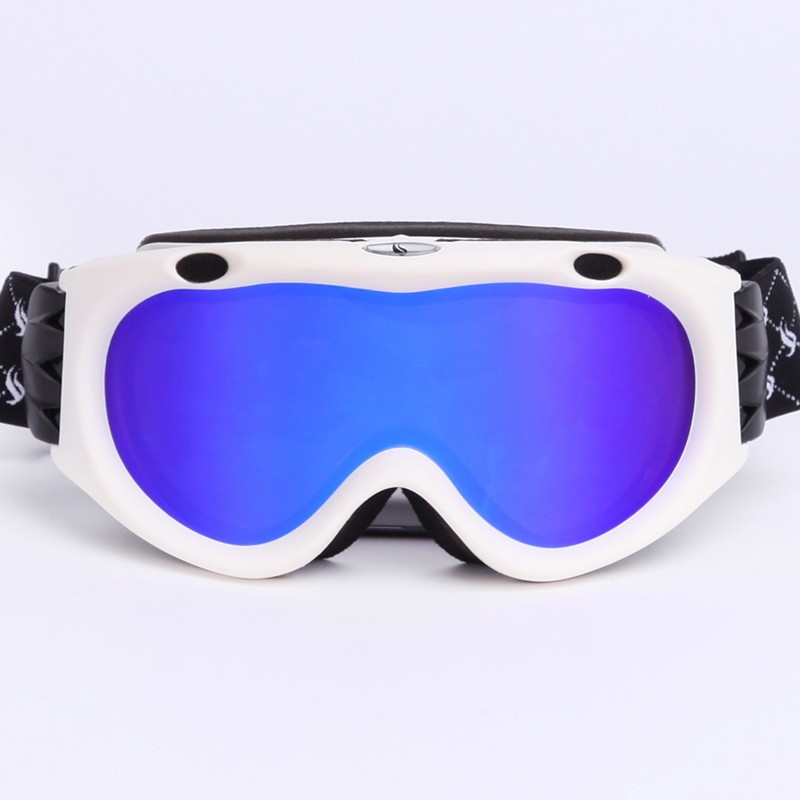 High density adjustable non-slip webbing permanent anti-fog universal ski goggles SNOW-300
