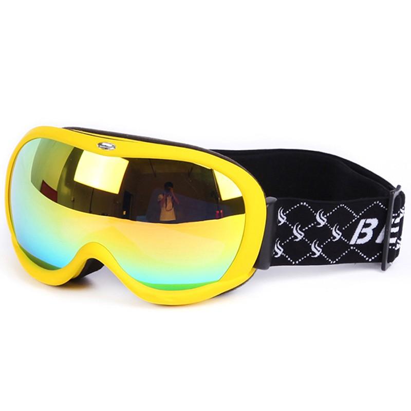 Color custom impact resistant durable frame spherical lens snow goggles SNOW-400