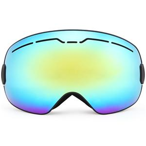 Anti-slip drop silicone strap imported permanent anti-fog cylindrical lens ski goggle SNOW-5200