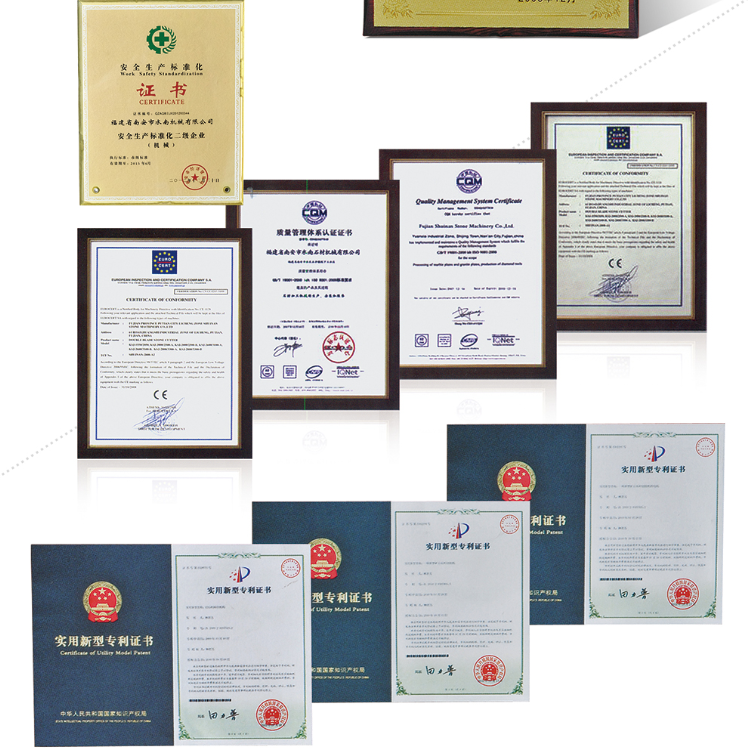 Quality Management System Certificate and Certificate of Utility Model Patent