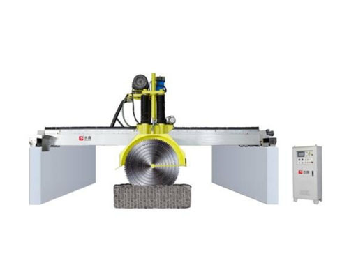 Multi Blade Bridge Saw Machine Stone Block Cutting For Granite And Marble