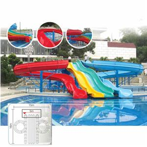 Swimming pool open fiberglass water slide tubes for sale