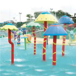 Water park fiberglass mushroom umbrella spray for sale