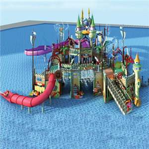 Aqua park playhouse for Kids with fiberglass water slide tube