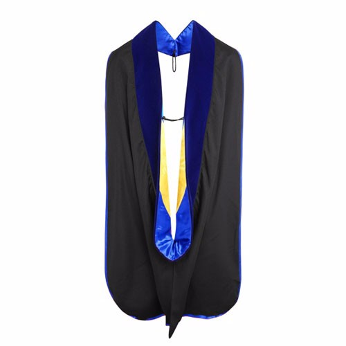 Deluxe Doctoral Hood with Gold Piping
