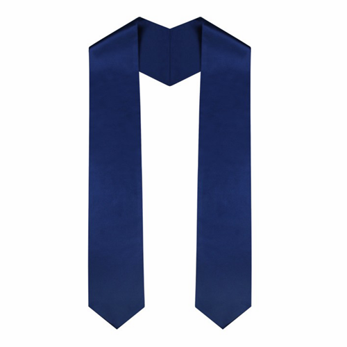 Academic Navy Blue Graduation Plain Stole