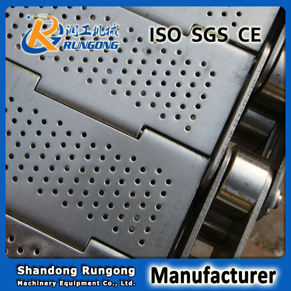 Conveyor chain plate