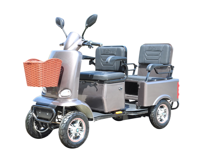Detachable Front Seat 4 Wheel Electric Disabled 2 Seat Mobility Scooter