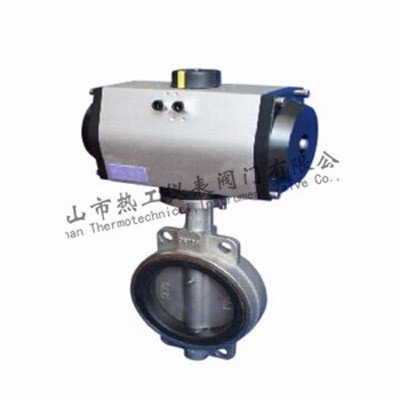 Pneumatic rubber lined butterfly valve