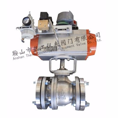 Pneumatic V type adjusting ball valve