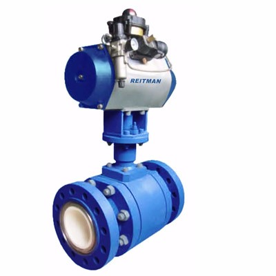 Pneumatic V-type ceramic valve